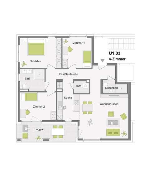 4-Zimmerwohnung mit 113 m²