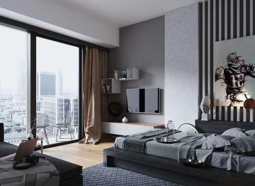 Modernes City-Apartment mit bodentiefen Fenstern und Skylineblick - Wohlfühlen garantiert!