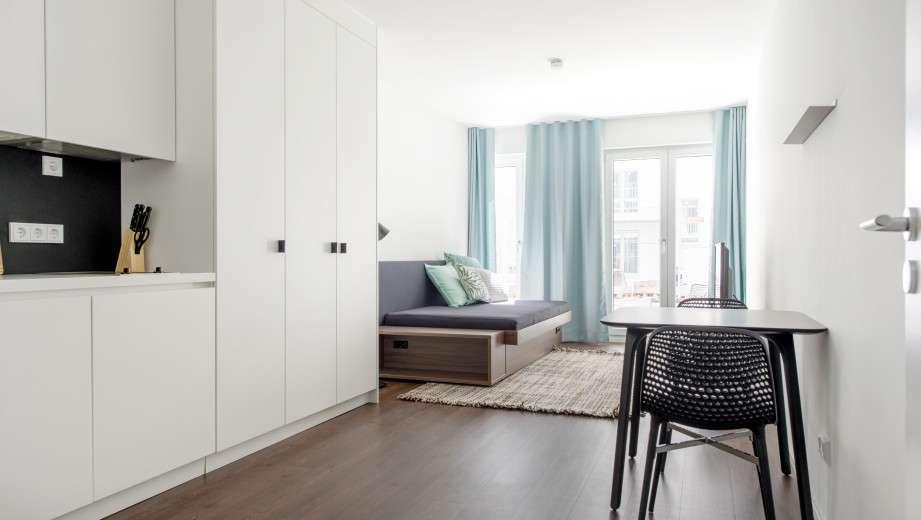 Möbliertes 1-Zimmer-Apartment in München ab 01.01.2020 bezugsfrei in Schwabing (München)