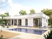 Moderner Flachdach-Bungalow mit lichtdurchflutetem Wohnbereich