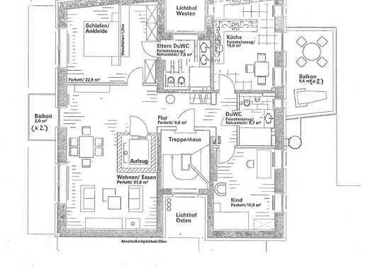 Gepflegte 3-Zimmer-Wohnung mit 2 Balkonen, 2 Bädern und Einbauküche in Bad Oeynhausen