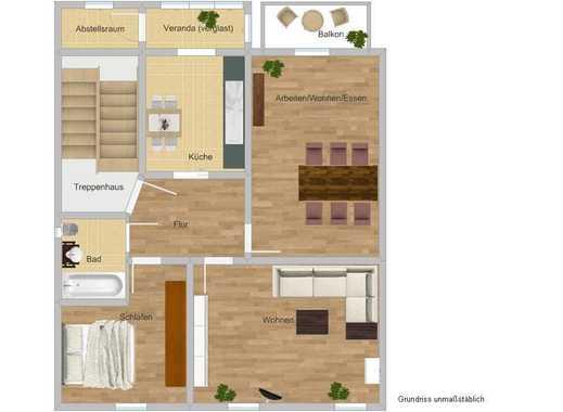 ** KITA-Betreiber vermietet wunderschöne 3-Zimmer-Wohnung an ErzieherIn / pädagogische Fachkraft **