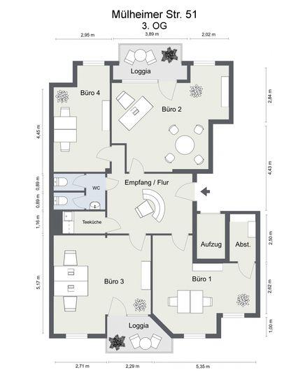 Floorplan letterhead - Mülheim