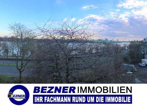 Schöne Zwei - Zimmerwohnung mit Balkon, Garage und Traumblick auf Dom und Rhein in Köln - Riehl