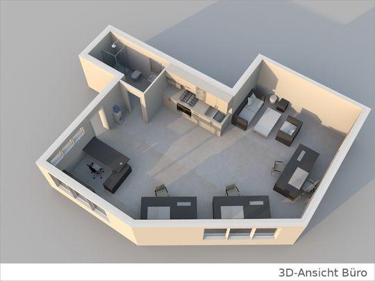 3D Grundriss Büro