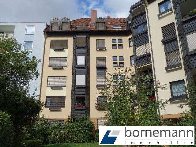 Nähe Luitpoldhain! 3,5-Zi.-Wohnung mit 2 Bädern, Loggia + TG in Glockenhof (Nürnberg)