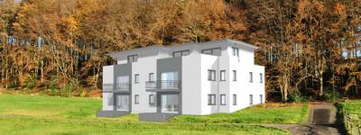 Erstbezug! Moderne Mietwohnung mit West-Terrasse, in P.W.-Hausberge