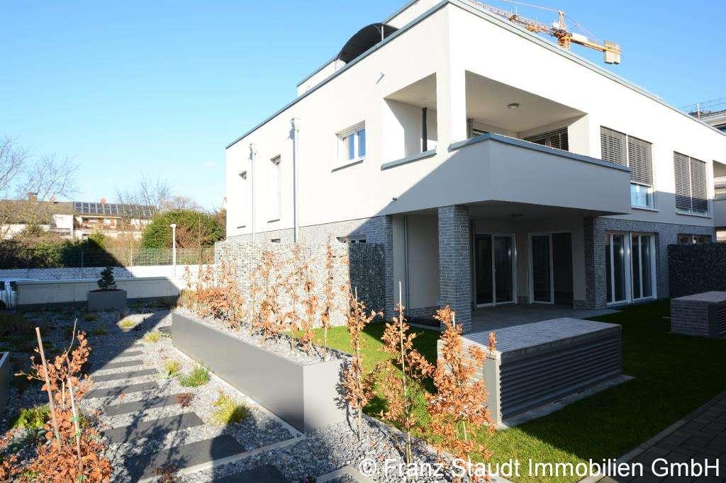 Erstbezug: Exklusive 3-Zimmer-Wohnung in Goldbach mit Gartenanteil in
