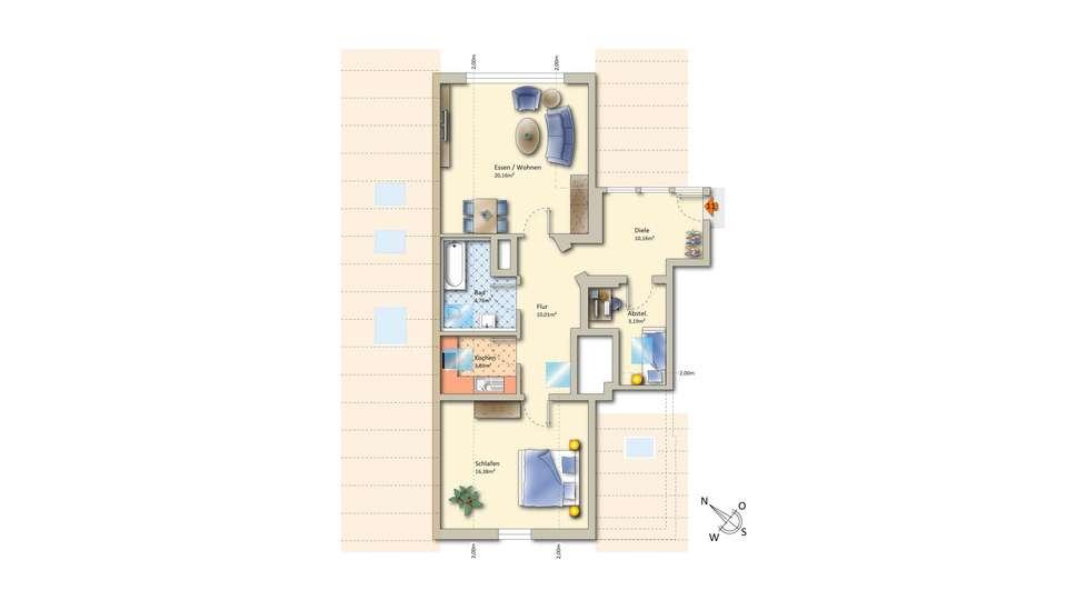 Wohnung 11 2. Dachgeschoss