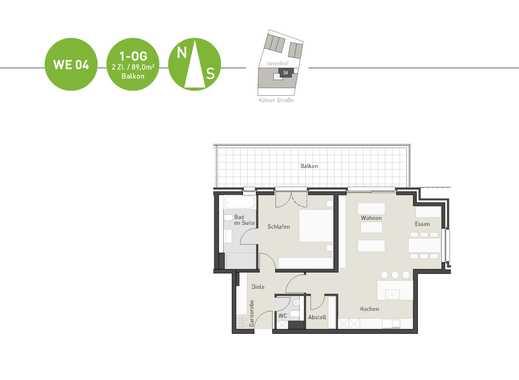 Lebenswerte und attraktive Wohnung für 2 Personen mit großem Balkon!