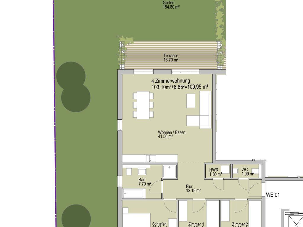 gartentraum f r familien im neubau fechenheim erleben. Black Bedroom Furniture Sets. Home Design Ideas