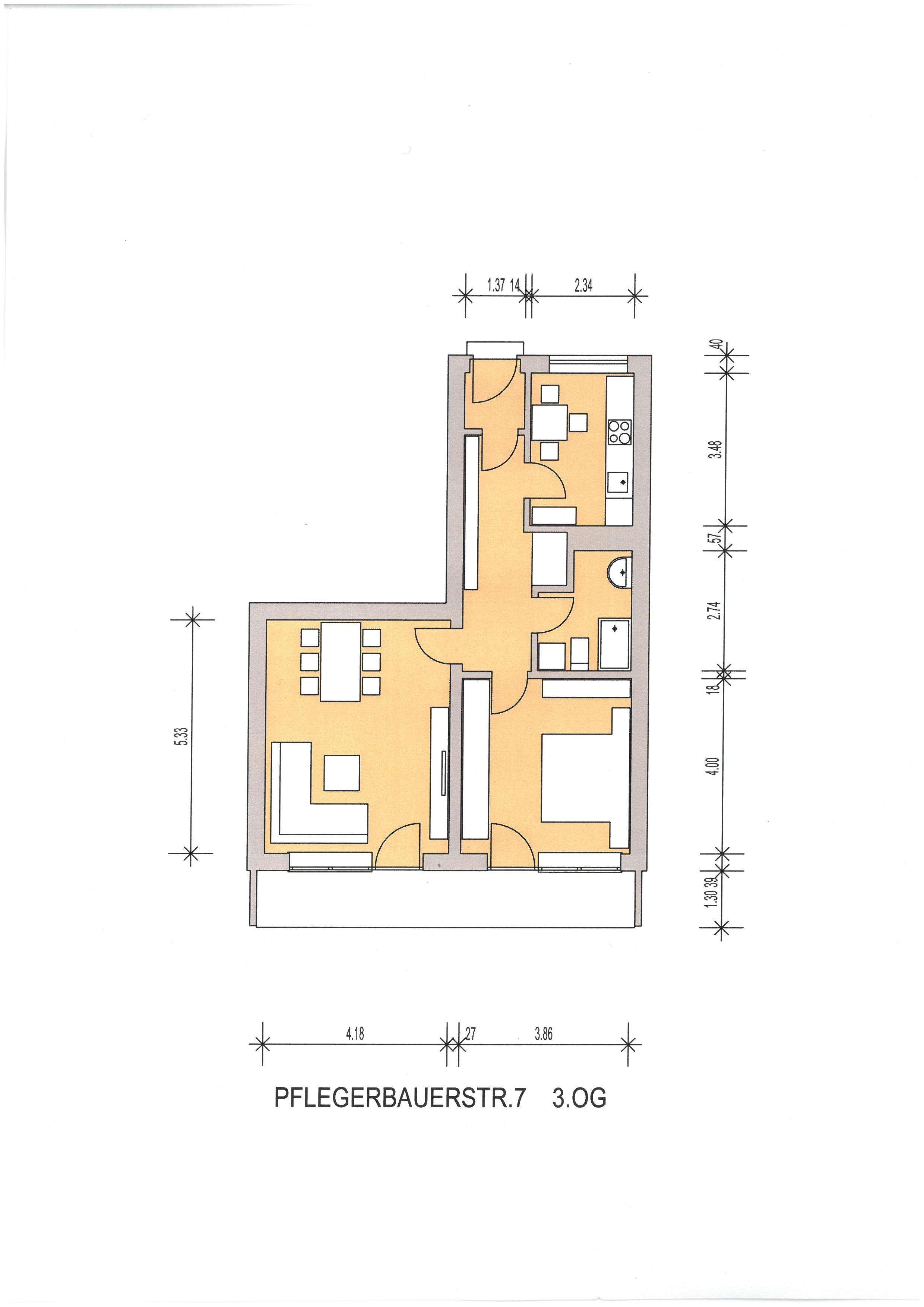 Erstbezug 2 Zimmer-Wohnung mit Balkon, Nähe St. Emmeram, Englischer Garten in Bogenhausen (München)
