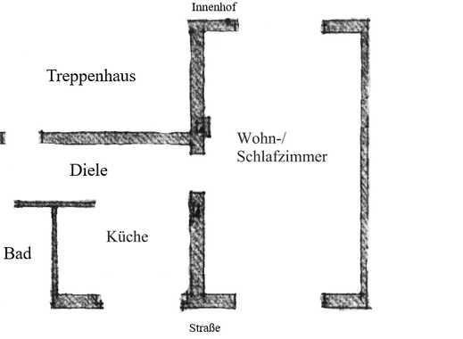 Erstbezug nach Sanierung: helle 1-Zimmer-Wohnung in der Südstadt