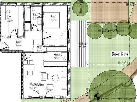 ERSTBEZUG / Moderne 3-Zimmer-Wohnungen im Herzen von Obing mit Lift und Carport in Obing