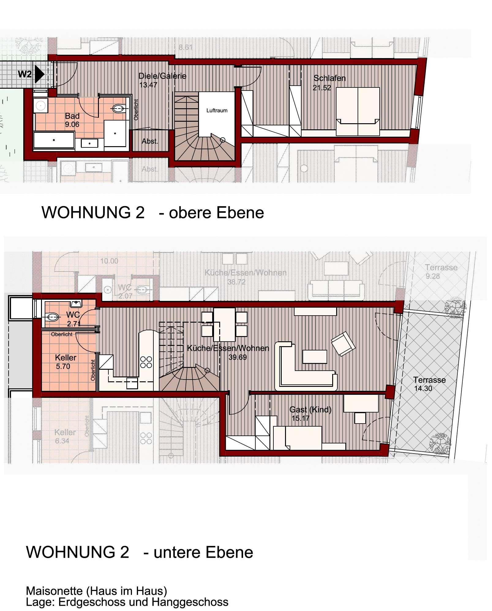 Exklusives Wohnen in neuer Maisonetten-Wohnung! in Freilassing