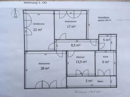 Schöne, großzügige 3 1/2 Zimmer Wohnung in Regensburg (Kreis), Zeitlarn in Zeitlarn