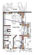 Moderne DHH mit vier Zimmern