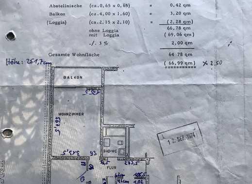 Schöne drei Zimmer Wohnung in Mainz-Mombach
