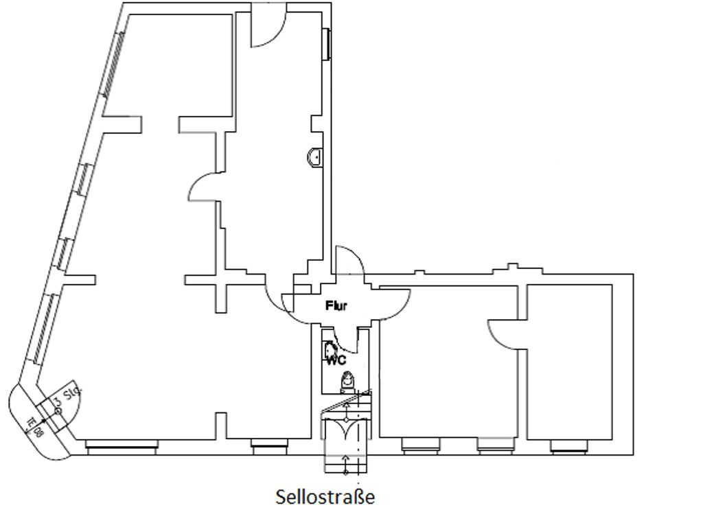 Grundriss 115m² Gewerbefläche