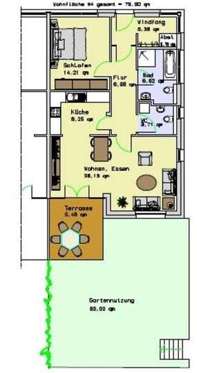 Wohnung 4, EG, 79,50m²<