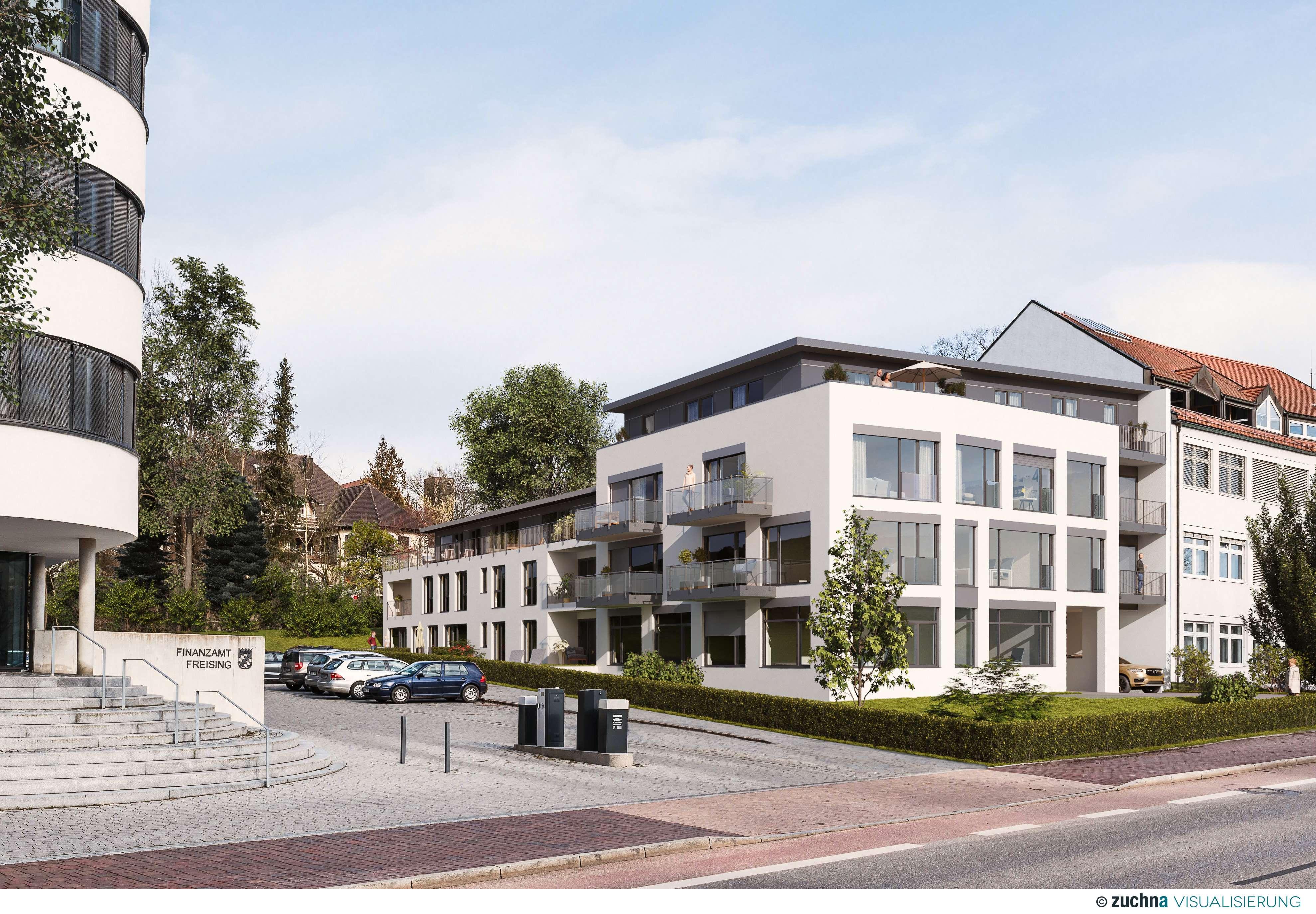 Erstbezug! Moderne 2-Zimmer-Terrassenwohnung mit großem Garten in unmittelbarer Altstadtnähe in Freising