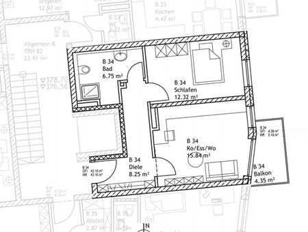 Gemütliche neuwertige 2-Zimmer-Wohnung in Ingolstadt-Zentrum in Mitte (Ingolstadt)