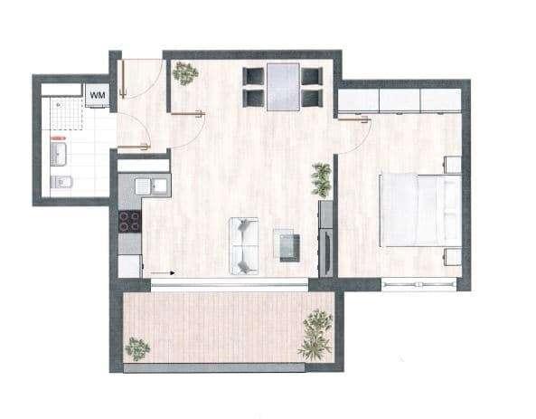 Moderne 2-Zimmer-Wohnung mit toller offener Küche, Loggia Wohnung Nähe City-Galerie in Augsburg-Innenstadt