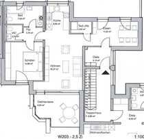 Lichtdurchflutete und ruhige 2 5-Zimmer-Dachterrassenwohnung