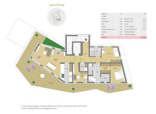 Penthousewohnung: Badewanne mit Weitblick!