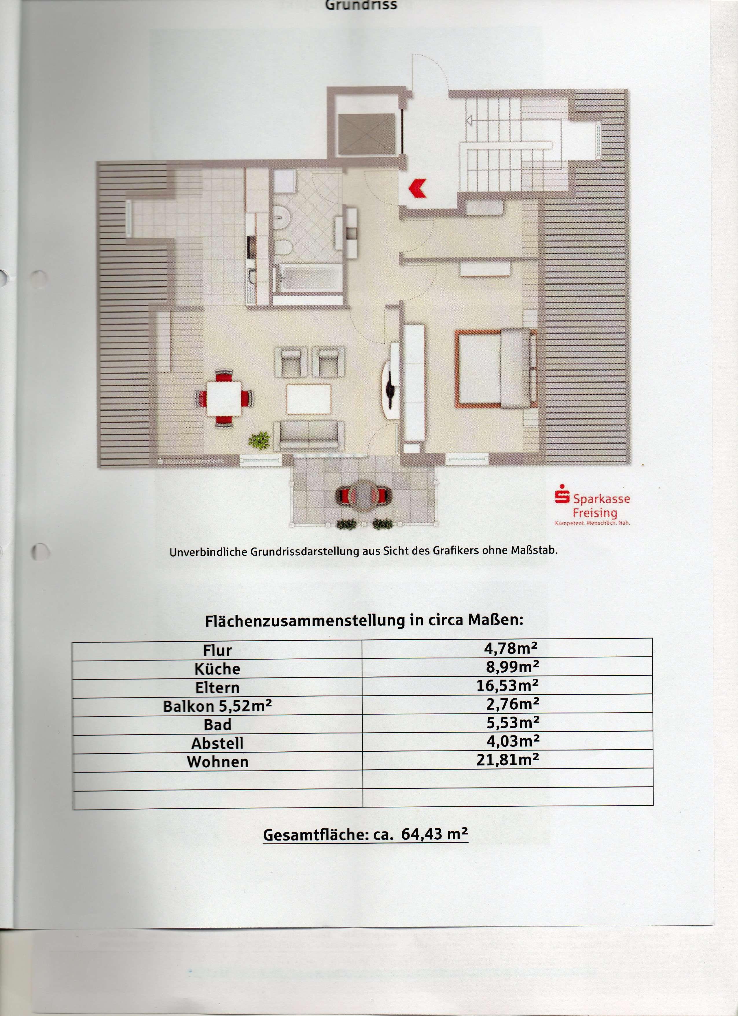Herrlich DG Wohnung in Erding .