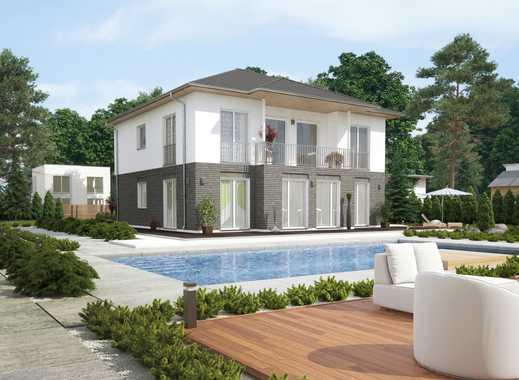 Individuelle Stadtvilla inkl. Balkon, Teilklinker und Grundstück