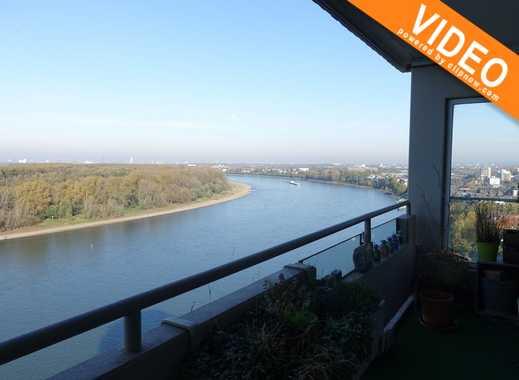 Herrliche 4 Zimmer Wohnung direkt am Rhein mit Blick auf den Kölner Dom
