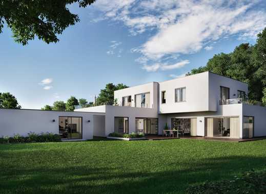 NEUBAU: Massive in Ziegel gebaute Villa im Bauhausstil mit Seeblick und Smart Home – frei planbar.