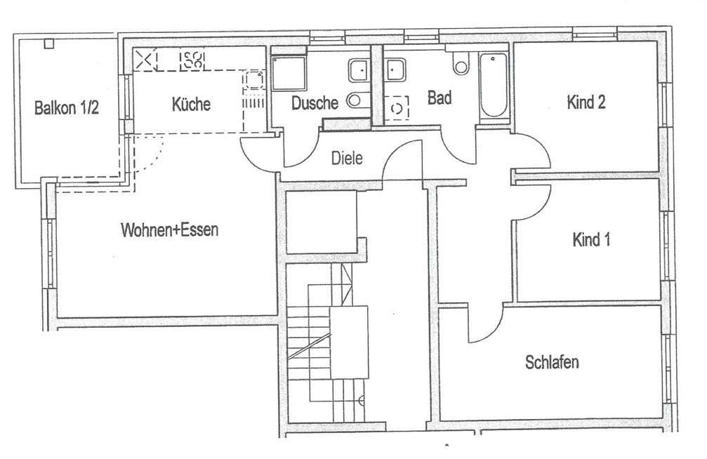 Schöne, helle 4-Zimmer-Wohnung mit Balkon in Berg am Laim