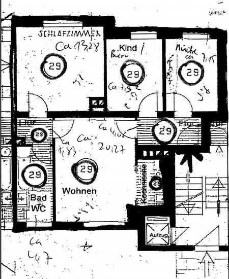 3-Zimmer-EG-Wohnung mit Einbauküche in Neuhausen, München in Neuhausen (München)