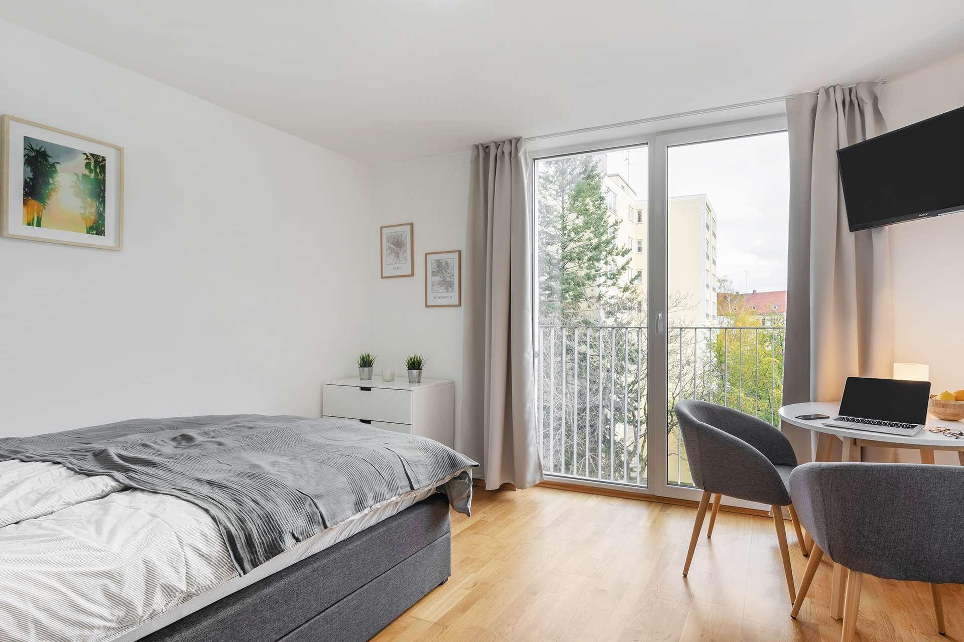 Voll möbliertes Business Apartment (21qm) in zentraler Lage in Neuhausen (München)