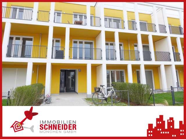 IMMOBILIEN SCHNEIDER - ERSTBEZUG - schöne 4 Zi.-Garten-Wohnung mit Einbauküche und Süd-Terrasse
