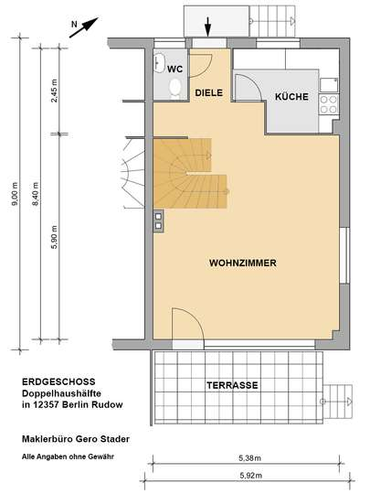 Gepflegte Doppelhaushälfte im Rudower Blumenviertel - Bild 29
