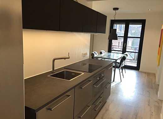 Coole, top ausgestattete, teilmöblierte 2-Zimmer-Wohnung mit Balkon im Gut Brückerbach