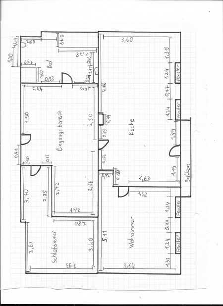 DG-Wohnung mit großer Wohnküche, zwei Zimmern und Balkon in der Gemeinde Seeshaupt in Seeshaupt