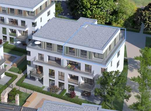 3-Zimmer-Penthaus, Gartenhaus 5, ca. 27 m² Dachterrasse