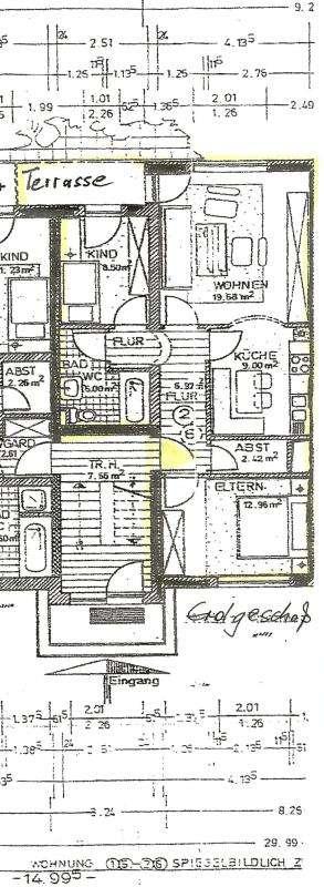 2 1/2-Zimmer Wohnung mit Südterrasse und Tiefgarage in