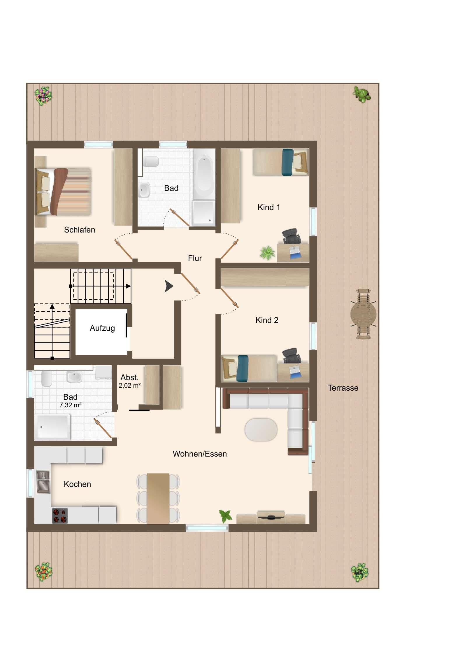 ERSTBEZUG - 4 ZKB Penthouse-Wohnung mit Balkon und TG-Stellplätzen in Bestlage von Beilngries in