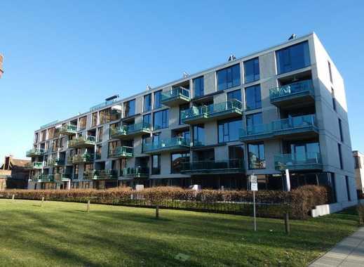 Luxuriöse Drei-Zimmer Wohnung mit zwei Balkonen, moderner Einbauküche und Tiefgarage am Stadtwerder