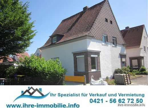 Rönnebeck: Aufw. renovierte DHH mit 3-5 Zimmer, Garage, Werkstatt, Sonnenterrasse u.Garten, Stellpl.