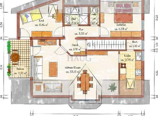 Gemütliche 3-Zimmer-DG-Wohnung mit Balkon in ES-Sulzgries