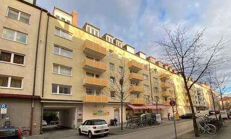 großzügig geschnittene 1-Zimmer-Wohnung mit vollausgestatteter Küche und Balkon in zentraler Lage in Schwanthalerhöhe (München)