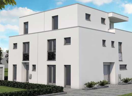 Refrath, zeitlose Architektur, Neubau von zwei Doppelhaushälften