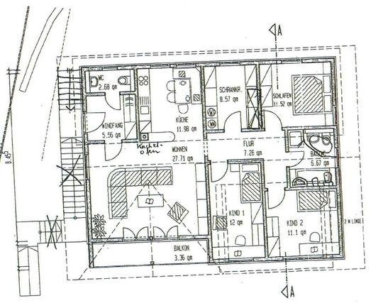 Grundriss DG - 4 Zimmerwohnung