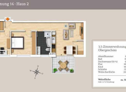 Bezahlbarer Wohnraum - 3,5-Zi.-OG-Wohnung in toller Südausrichtung